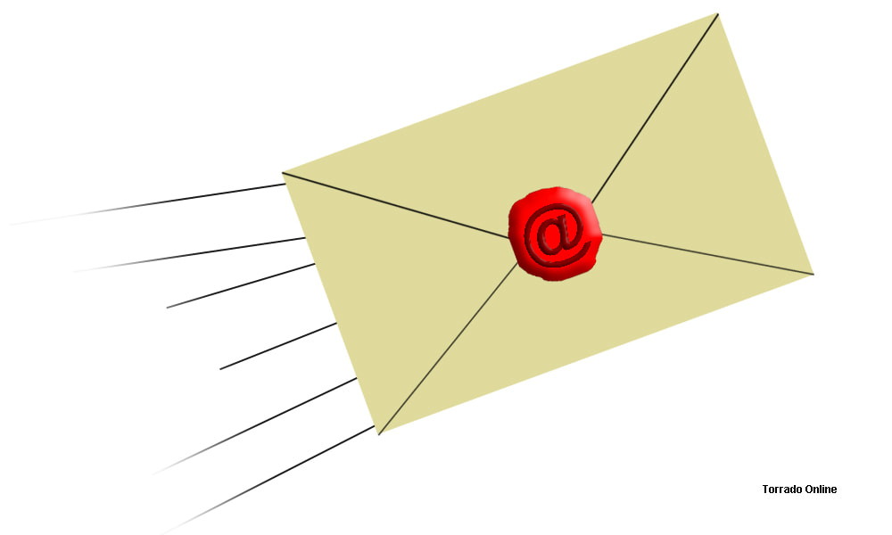 Envelope with Email @ and speed lines