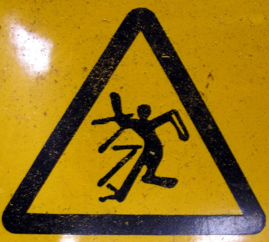 Stick Figure in Yield sign