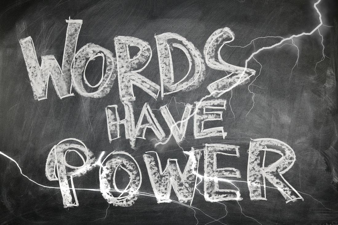 Chalkboard Words Have Power